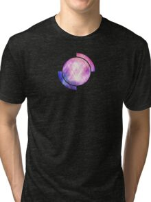 Soft Modern Fashion pink/purple/blueTexture (Soft light glass style - triangle - pattern edit) Tri-blend T-Shirt