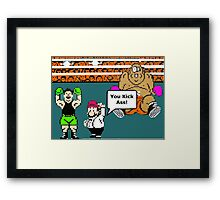 MIke Tyson's Knockout NES Classic video game Framed Print
