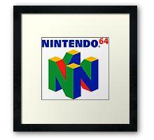 Nintendo 64 N64 Classic Video Game Framed Print