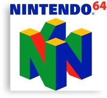 Nintendo 64 N64 Classic Video Game Canvas Print