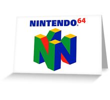 Nintendo 64 N64 Classic Video Game Greeting Card