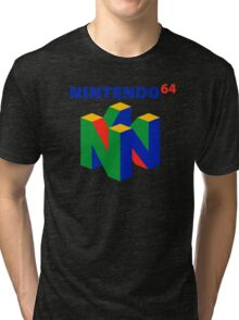 Nintendo 64 N64 Classic Video Game Tri-blend T-Shirt
