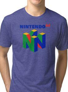 Nintendo 64 N64 Classic Video Game Tri-blend T-Shirt