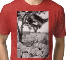 Fallen Columns, Olympia, Greece Tri-blend T-Shirt