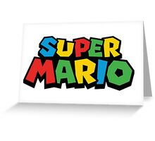 Super Mario Classic Video Games Greeting Card