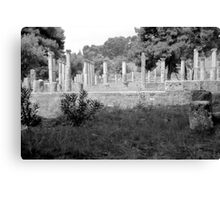 Standing Pillars, Olympia, Greece Canvas Print