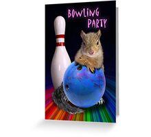 Bowling Party Squirrel Greeting Card