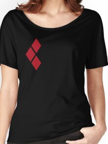 Harley Quinn Red Diamonds on Black Women's Relaxed Fit T-Shirt