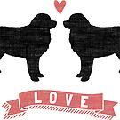 Bernese Mountain Dogs Love by Jenn Inashvili