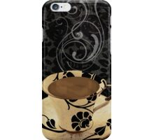 Cafe Noir Damask iPhone Case/Skin