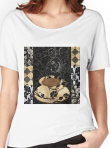 Cafe Noir Damask Women's Relaxed Fit T-Shirt