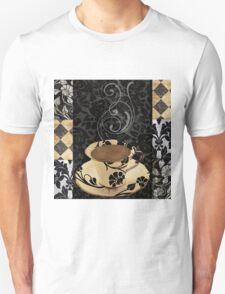 Cafe Noir Damask Unisex T-Shirt
