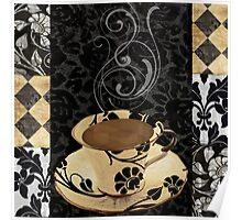 Cafe Noir Damask Poster