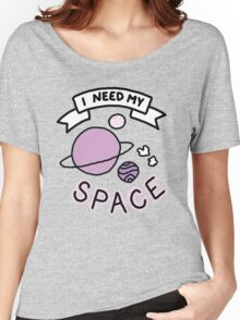 Introvert space galaxy awkward teen tumblr snapchat sticker print Women's Relaxed Fit T-Shirt