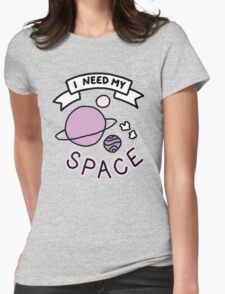 Introvert space galaxy awkward teen tumblr snapchat sticker print Womens Fitted T-Shirt
