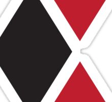 Red and Black Tri-diamonds Sticker