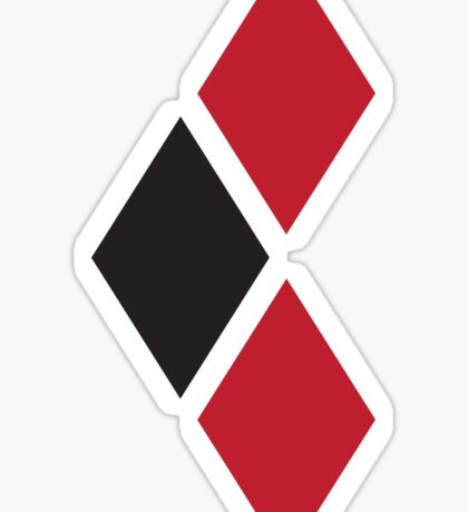 Red and Black Tri-diamonds Sticker