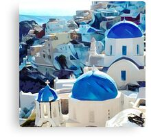 Oia Village Canvas Print