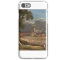 John Varley - Westminster Abbey from Tothill Fields iPhone Case/Skin