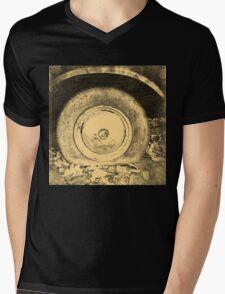Old Wheel Of Classic Car Mens V-Neck T-Shirt