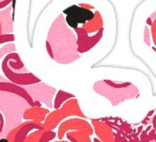 alpha omicron pi panda - lilly print Sticker