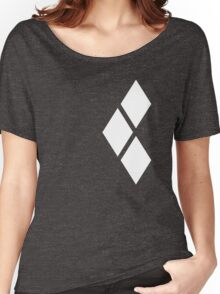 White Tri-diamonds Women's Relaxed Fit T-Shirt