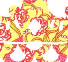 chi omega owl - lilly print Sticker