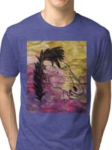 Portrait Of A Horseman Tri-blend T-Shirt