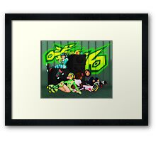 Humming the Bassline Framed Print