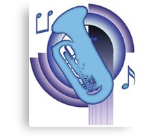 Deco Tuba (Cool Colors) Canvas Print
