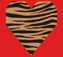 0223 Deep Saffron Tiger One Piece - Short Sleeve