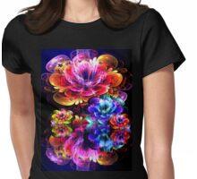 dreamy 3d bloom water garden Womens Fitted T-Shirt