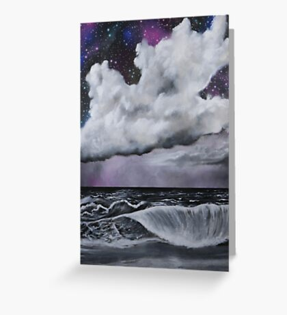 Sea in black and white Greeting Card