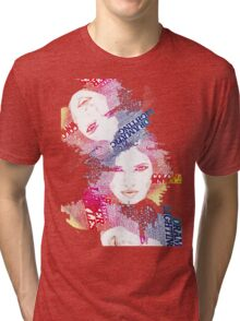 Colourful Typomania Tri-blend T-Shirt