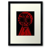 Key Hole Monster Framed Print