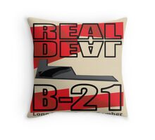 B-21 Bomber Throw Pillow