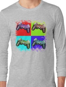Game Controller Pop Art Long Sleeve T-Shirt