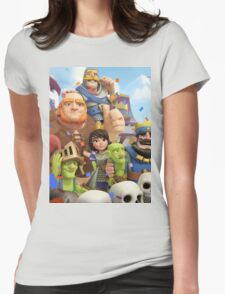 Clash Royale Troops Womens Fitted T-Shirt