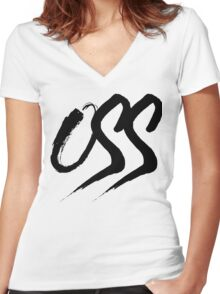 Oss - Brush script Women's Fitted V-Neck T-Shirt