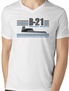 B 21 Mens V-Neck T-Shirt