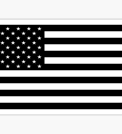 American Flag (black) Sticker
