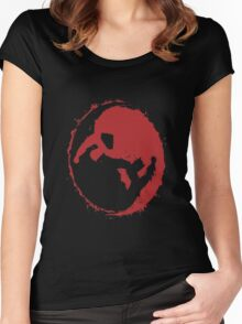 superman and batman yin yang Women's Fitted Scoop T-Shirt