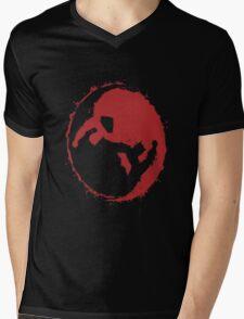 superman and batman yin yang Mens V-Neck T-Shirt