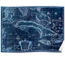 American Revolutionary War Era Maps 1750-1786 163 A new chart of the seas surrounding the island of Cuba with the soundings currents ships courses &c and a Inverted Poster