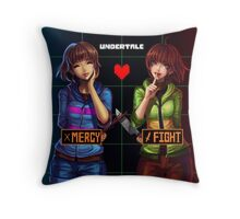 Undertale Mercy or Fight Throw Pillow