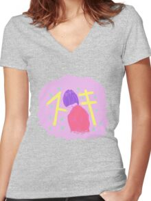 Lonely Girl Women's Fitted V-Neck T-Shirt