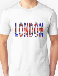 London Word With Flag Texture Unisex T-Shirt
