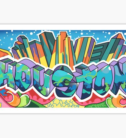 Houston Graffiti Sticker Sticker