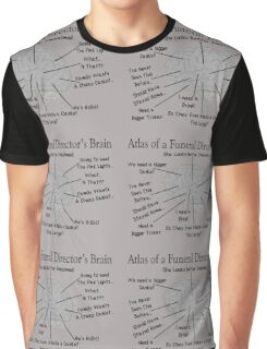 Funny Funeral Director's Brain Graphic T-Shirt