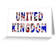 United Kingdom Word With Flag Texture Greeting Card
